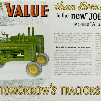 John_Deere_Model A_ Model B_Tractor_Advertisement
