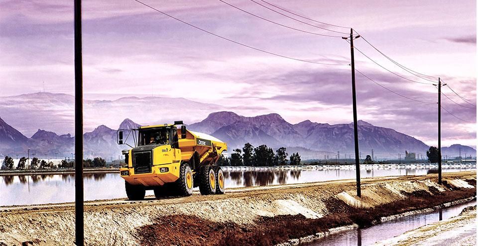 A 300D ADT hauling gravel in Utah.