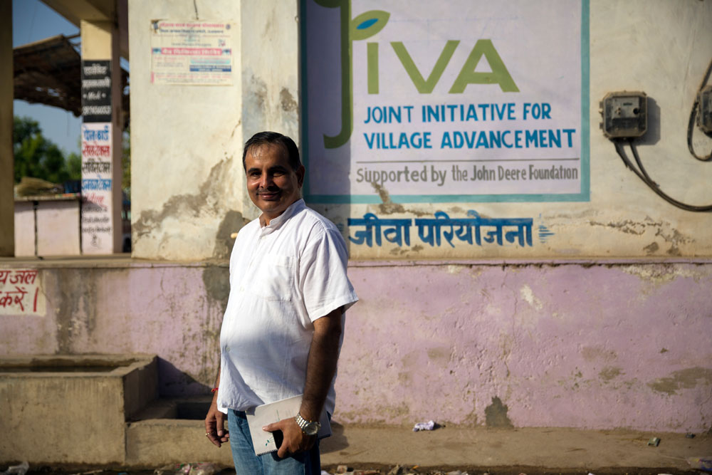 Virendar Khatana has been with JIVA since its inception. As project director, he oversees all of the daily activity of the JIVA program in each of the three villages.  
