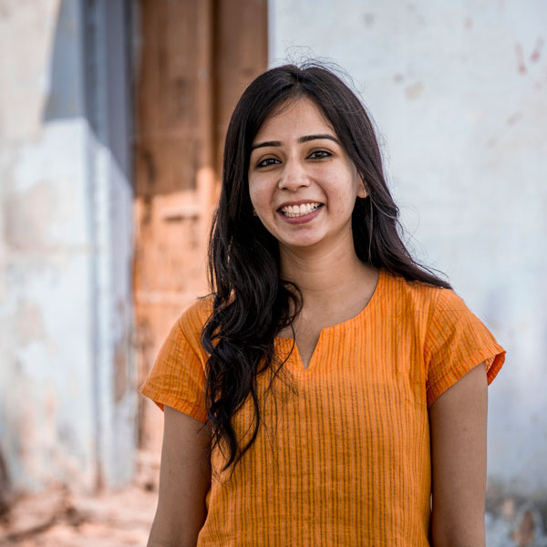 "Charu Choudhary is a community education associate who grew up about 25 miles from JIVA's home base. She joined JIVA because ""I wanted to work for an organization where I could get the opportunity to learn and continuously improve myself. This is what I get at JIVA - a positive environment to work."""