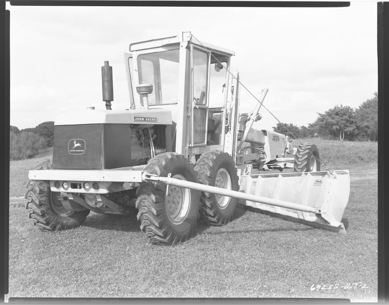 Straight from the John Deere Archives, The JD570 Motor Grader in action.