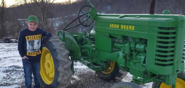 A Little Boy, Great Grandpa's Tractor, and an Unforgettable Christmas Present