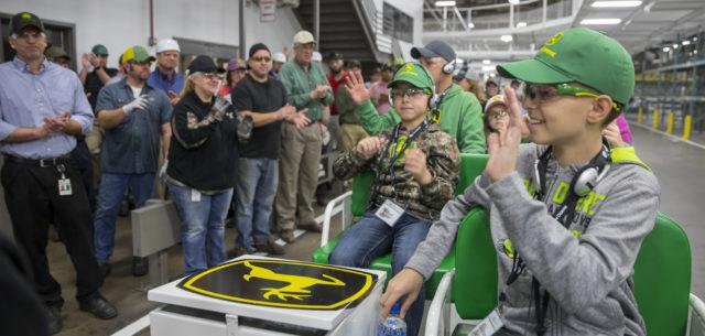 John Deere Pride Swells with Boy's Visit